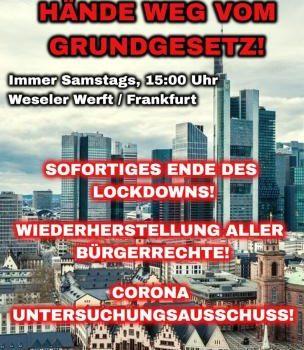 """Kundgebung: """"Hände weg vom Grundgesetz!"""" Weseler Werft 22.08.2020 – 15.00Uhr"""