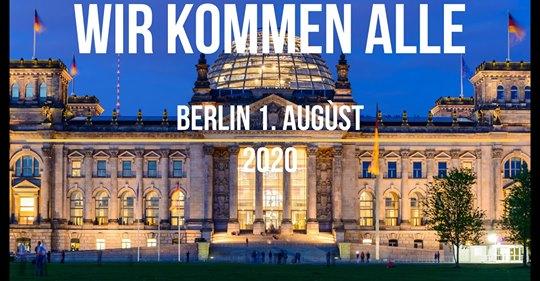 Demonstration: Das Ende der Pandemie – Tag der Freiheit in Berlin am 01.08.2020